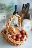 διακοσμητική παράδοση Πάσχας κέικ ψωμιού Στοκ Φωτογραφία