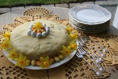 διακοσμητική παράδοση Πάσχας κέικ ψωμιού Στοκ Εικόνα