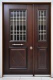 διακοσμητική πόρτα ξύλινη Στοκ Εικόνες