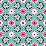 διακοσμητικός floral άνευ ραφή Αναδρομικό μοτίβο διανυσματική απεικόνιση