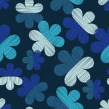 διακοσμητικός floral άνευ ραφή Σύσταση κακογραφίας Αναδρομικό μοτίβο Στοκ Εικόνες