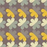 διακοσμητικός floral άνευ ραφή Σύσταση κακογραφίας Αναδρομικό μοτίβο Στοκ εικόνα με δικαίωμα ελεύθερης χρήσης