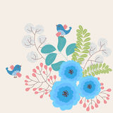διακοσμητικός floral ανασκόπησης απεικόνιση αποθεμάτων