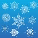 διακοσμητικό καθορισμένο snowflakes διάνυσμα απεικόνιση αποθεμάτων