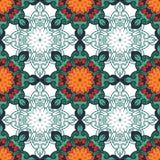 διακοσμητικό πρότυπο άνευ ραφής Διακόσμηση με τα στοιχεία μωσαϊκών Στοκ εικόνες με δικαίωμα ελεύθερης χρήσης