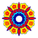 4 διακοσμητικό στρογγυλό σχέδιο σκιαγραφιών λουλουδιών Στοκ φωτογραφίες με δικαίωμα ελεύθερης χρήσης