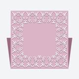 Διακοσμητικό τετραγωνικό πλαίσιο Στοκ εικόνες με δικαίωμα ελεύθερης χρήσης