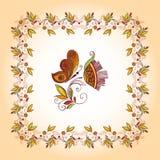 διακοσμητικό floral πλαίσιο στοιχείων Στοκ Εικόνες