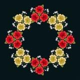 διακοσμητικό floral πλαίσιο διανυσματική απεικόνιση