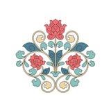 Διακοσμητικό floral στοιχείο για το σχέδιο στην Κίνα Στοκ Φωτογραφία