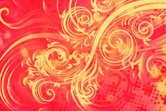 Διακοσμητικό Floral υπόβαθρο Grunge Στοκ Εικόνες