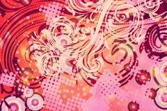 Διακοσμητικό Floral υπόβαθρο Grunge Στοκ εικόνα με δικαίωμα ελεύθερης χρήσης