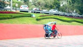 Διακοσμητικό trishaw Malacca στην πόλη Μαλαισία φιλμ μικρού μήκους