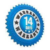 14 διακριτικό εξουσιοδότησης ημερών που απομονώνεται ελεύθερη απεικόνιση δικαιώματος