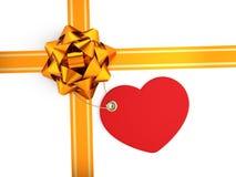 Διακόσμηση του εορταστικού κιβωτίου δώρων Στοκ Φωτογραφία