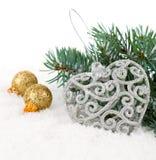 Διακόσμηση Χριστουγέννων με το διάστημα αντιγράφων Στοκ φωτογραφία με δικαίωμα ελεύθερης χρήσης