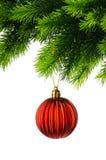 διακόσμηση Χριστουγέννων που απομονώνεται Στοκ Φωτογραφία