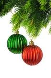 διακόσμηση Χριστουγέννων που απομονώνεται Στοκ Εικόνες