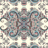 Διακόσμηση Boho, σύσταση Εθνικός διακοσμητικός floral Αφηρημένο floral φυσικό άνευ ραφής σχέδιο εγκαταστάσεων διακοσμητικός τρύγο Στοκ εικόνα με δικαίωμα ελεύθερης χρήσης
