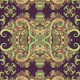 Διακόσμηση Boho, σύσταση Εθνικός διακοσμητικός floral Στοκ Εικόνες