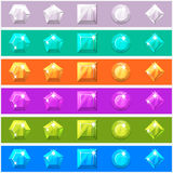 Διαμάντια κινούμενων σχεδίων που τίθενται στα editable διαφορετικά χρώματα Στοκ Εικόνα