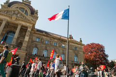 Διαμαρτυρία Απριλίου ενάντια στις μεταρρυθμίσεις εργασίας στη Γαλλία Στοκ φωτογραφία με δικαίωμα ελεύθερης χρήσης