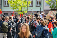 Διαμαρτυρία Απριλίου ενάντια στις μεταρρυθμίσεις εργασίας στη Γαλλία Στοκ εικόνες με δικαίωμα ελεύθερης χρήσης