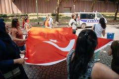 Διαμαρτυρία ενεργών στελεχών των ανθρώπινων δικαιωμάτων Uyghur Στοκ Φωτογραφία
