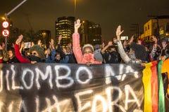 διαμαρτυρόμενοι Στοκ Εικόνες