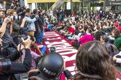 διαμαρτυρόμενοι Στοκ Εικόνα