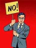 Διαμαρτυρόμενος με μια αφίσα αριθ. Στοκ Φωτογραφίες