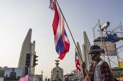 5 Ιανουαρίου 2014: Αντικυβερνητικοί διαμαρτυρόμενοι σε Democra στοκ εικόνες
