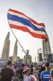 5 Ιανουαρίου 2014: Αντικυβερνητικοί διαμαρτυρόμενοι σε Democra στοκ εικόνα