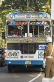 10 Ιανουαρίου 2014 - κυκλοφορία στο κεντρικό δρόμο Kandy Σρι Λάνκα Στοκ Εικόνες