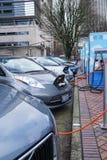 19 Ιανουαρίου 2018 - Πόρτλαντ ή: Ηλεκτρική χρέωση οχημάτων Στοκ Εικόνες