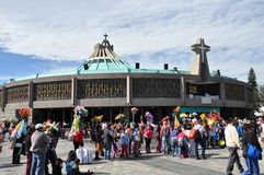 8 Ιανουαρίου 2016 - Πόλη του Μεξικού: Η βασιλική της κυρίας μας Guadalupe Στοκ Εικόνες
