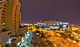 1 Ιανουαρίου 2014, Σαρλόττα, nc, ΗΠΑ - άποψη νύχτας της Καρολίνας π Στοκ Εικόνες