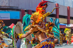 24 Ιανουαρίου 2016 Iloilo, Φιλιππίνες Φεστιβάλ Dinagyang Unid στοκ εικόνα