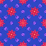 Διανυσματικά άνευ ραφής λουλούδια Στοκ φωτογραφία με δικαίωμα ελεύθερης χρήσης