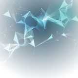 Διανυσματικά αφηρημένα μόρια απεικόνισης και τρισδιάστατο πλέγμα με τους κύκλους, γραμμές, μορφές πολυγώνων Στοκ φωτογραφία με δικαίωμα ελεύθερης χρήσης