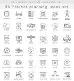 Διανυσματικά εικονίδια γραμμών περιλήψεων τεχνολογίας δικτύων εξαιρετικά σύγχρονα για τον Ιστό και apps Στοκ εικόνα με δικαίωμα ελεύθερης χρήσης