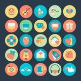 Διανυσματικά εικονίδια 3 ημέρας βαλεντίνων Στοκ εικόνες με δικαίωμα ελεύθερης χρήσης