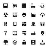 Διανυσματικά εικονίδια 1 Διαδικτύου, δικτύωσης και επικοινωνίας Στοκ εικόνες με δικαίωμα ελεύθερης χρήσης
