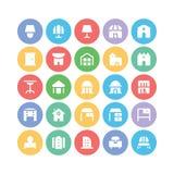 Διανυσματικά εικονίδια 13 κτηρίου & επίπλων Στοκ εικόνες με δικαίωμα ελεύθερης χρήσης