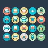 Διανυσματικά εικονίδια 5 μεταφορών Στοκ εικόνα με δικαίωμα ελεύθερης χρήσης