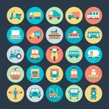 Διανυσματικά εικονίδια 4 μεταφορών Στοκ Εικόνες