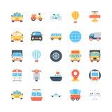 Διανυσματικά εικονίδια 3 μεταφορών Στοκ εικόνες με δικαίωμα ελεύθερης χρήσης