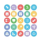 Διανυσματικά εικονίδια 9 σχεδίου & ανάπτυξης Στοκ φωτογραφίες με δικαίωμα ελεύθερης χρήσης