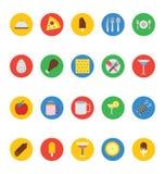 Διανυσματικά εικονίδια 1 τροφίμων Στοκ φωτογραφίες με δικαίωμα ελεύθερης χρήσης