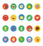 Διανυσματικά εικονίδια 2 τροφίμων Στοκ Εικόνες